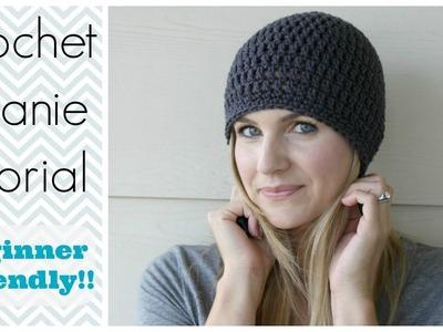 How to Crochet a Beanie Tutorial - Beginner Friendly