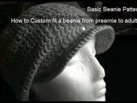 How to Crochet a Brim.Peak onto a Beanie