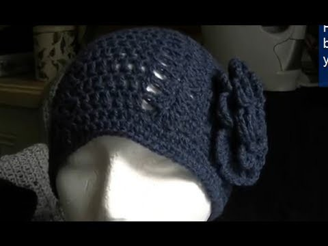 How to Crochet a Easy Double Crochet and Shell Beanie
