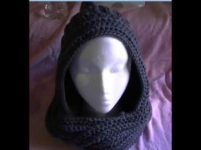 How to crochet a Easy Scoodie Part 1 of 2 Scarf.Hoodie