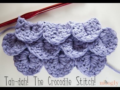 How to Crochet: Crocodile Stitch