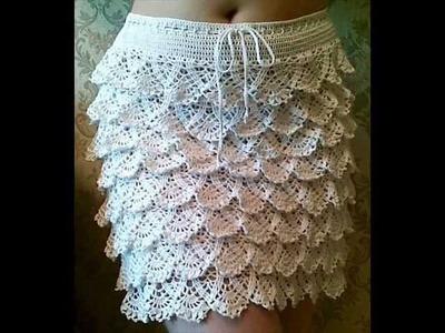 How to crochet ruffle skirt free pattern
