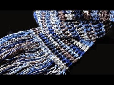How to: Crochet Waffle Stitch Scarf