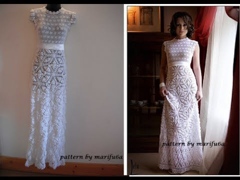 HOW TO CROCHET WEDDING DRESS MOTIF FREE PATTERN TUTORIAL