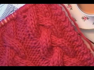 HOW TO KNIT A CABLED SCARF -  Learn how to knit this stunning plaited cable. Scarf tutorial.