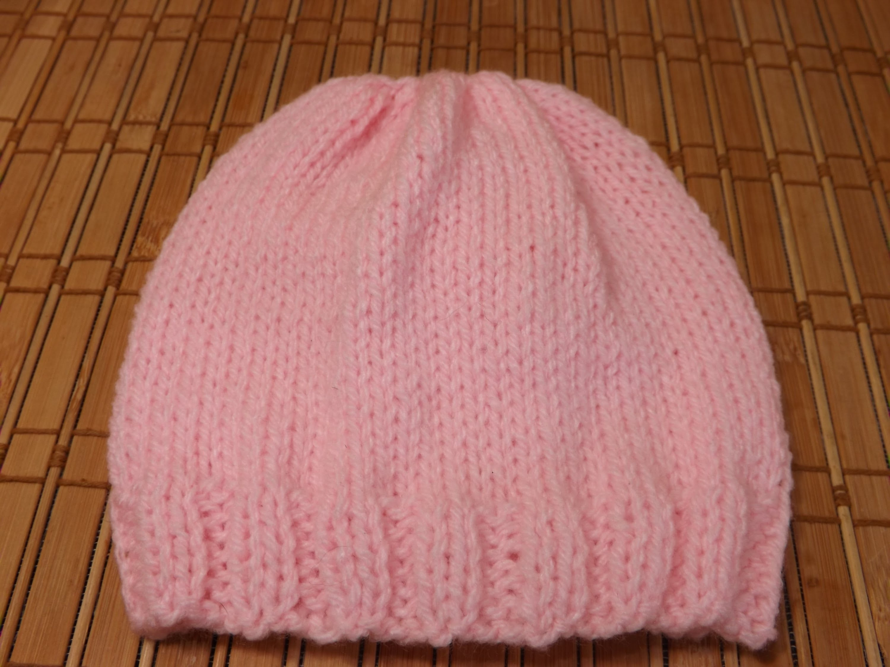 How to Knit A New Born Baby's Hat For Beginners