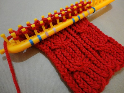 How to Loom Knit a Cabled Scarf with a rectangular loom (DIY Tutorial)