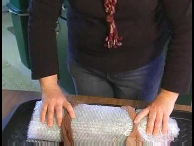 How to Make a Felt Scarf : Rolling Wool Fibers for Wet Felting
