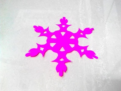 How to make a kirigami paper snowflake - 1 | Kirigami. Paper Cutting Craft, Videos and Tutorials.