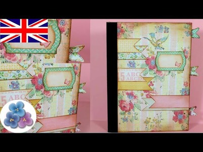 How to Make a Scrapbooking Cover DIY Scrapbook Book Covers Personalised Books Mathie