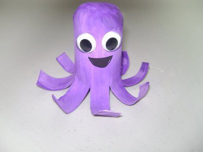 How to make a toilet paper tube octopus - EP