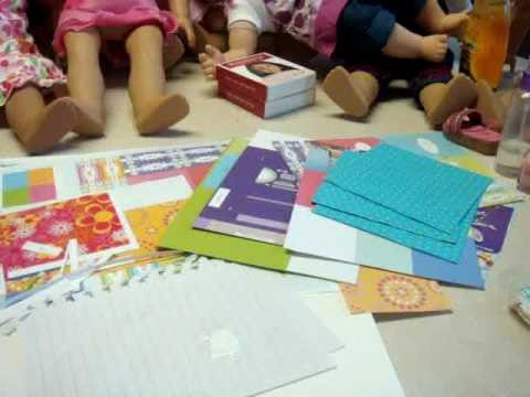 How to make crafts from the American Girl Doll Craft Book Part 1