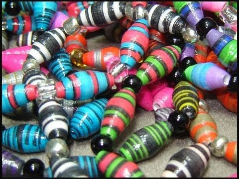 ♻ How To Make Paper Beads - Craft Tutorial 6