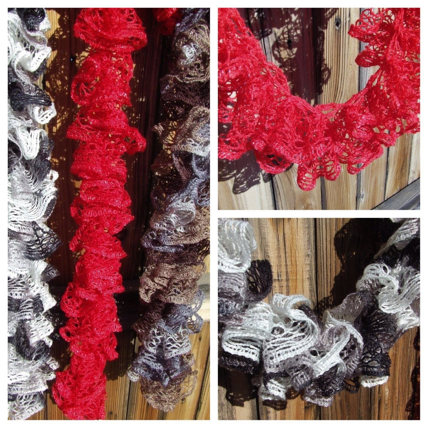 Instruction video How to knit Red Heart Sashay Ruffle scarf Knitting 102