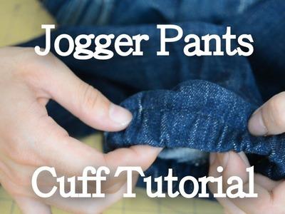 Jogger Pants Cuff Tutorial