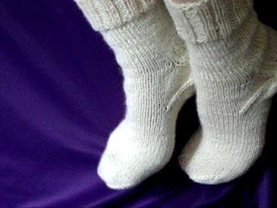 Как вязать носки спицами - How to knit socks