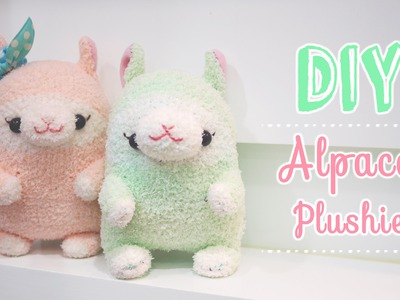 Kawaii Alpaca Sock Plushie Tutorial - DIY