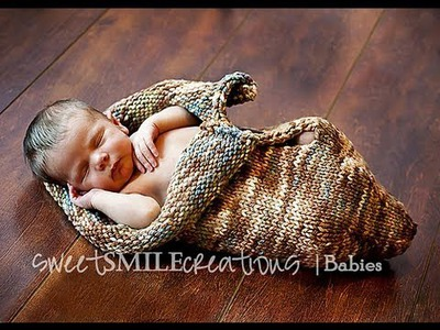 Knitted Baby Cocoon