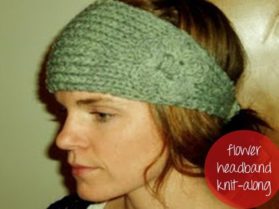 KNITTED FLOWER HEADBAND Part 1