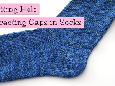Knitting Help - Correcting Gaps in Socks