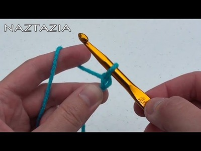 Learn How to Crochet RIGHT HAND Part 1 - Basics for Beginners - Chain CH Single Crochet Stitch SC