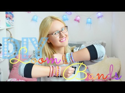 Loom Bands - 3 einfache Anleitungen | Armbänder, Rainbow Looms, DIY, Tutorial