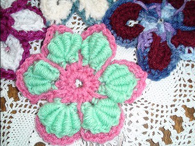 Majestic Crochet Flower Motif - Bullion Stitch Crochet Geek