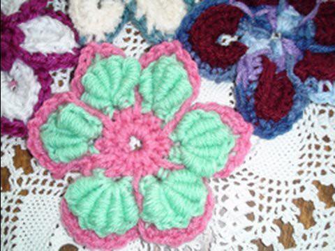 Majestic Crochet Flower Motif - Bullion Stitch Crochet Geek