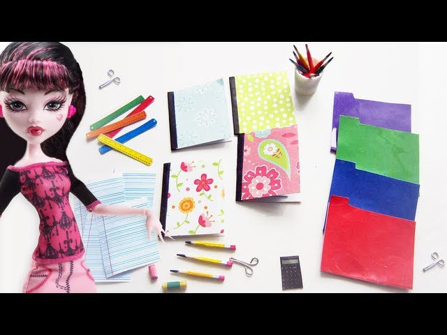 Make Doll School Supplies - Doll Crafts