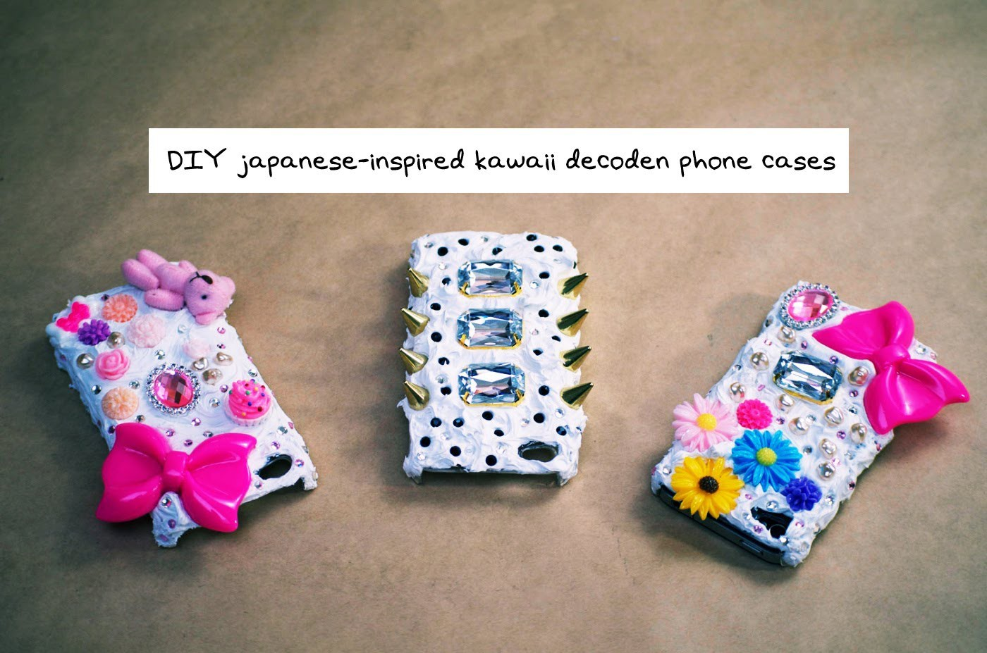 Mr. Kate DIY Japanese Style 3D Decoden Phone Case Tutorial