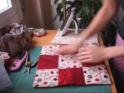 Nairamkitty crafts: Tutorial funda de cojin en patchwork (cortar y coser)