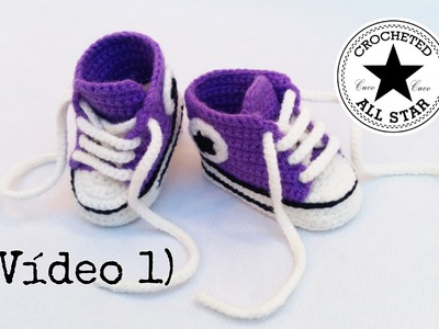 Patucos bebé All Star a crochet (Parte I)