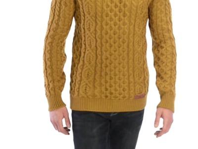 Peregrine by J.G. Glover Aran Knit Sweater - Merino Wool (For Men)