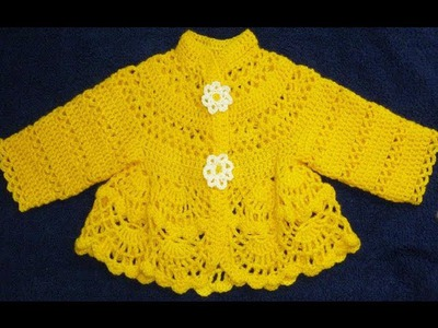 Платье вязанное крючком для малышки 3-6 месяцев.Baby dress crochet