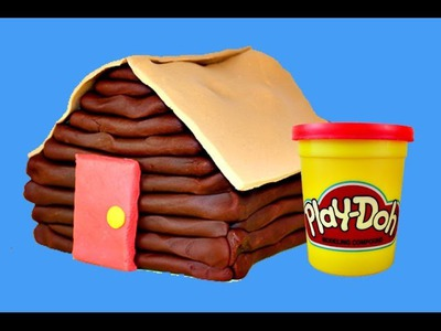 Play Doh Log Cabin House Play Dough DIY Tutorial DisneyCarToys How To Make Play-Doh Log Cabin Camp