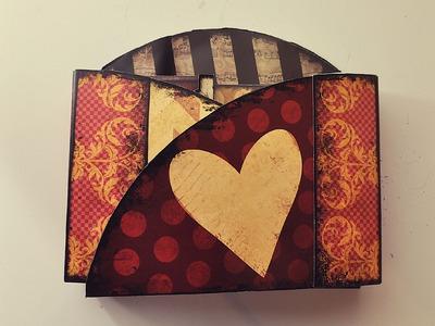 Printable Gatefold Mini Album Scrapbook Tutorial