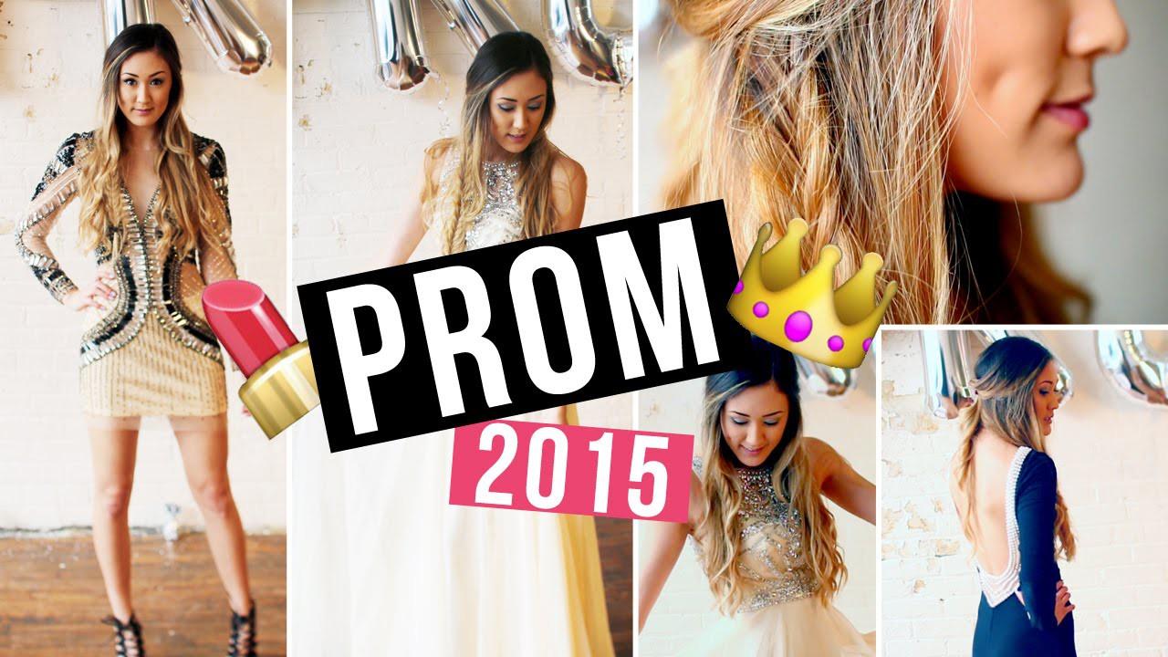Prom Makeup, Hair Tutorial, DIY Face Mask & Dress Ideas! | LaurDIY