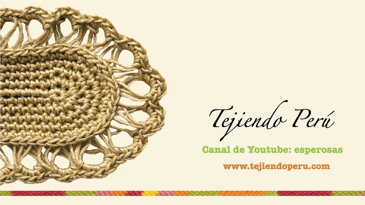 Punto peruano en dos  agujas y en crochet (Broomstick loop stitch)