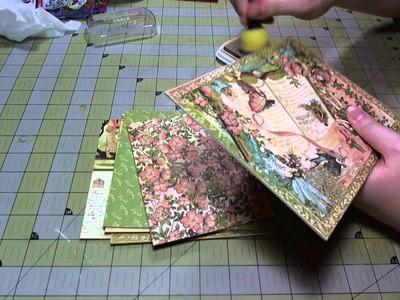 Scrapbook Tutorial: Chipboard Gate Fold Album
