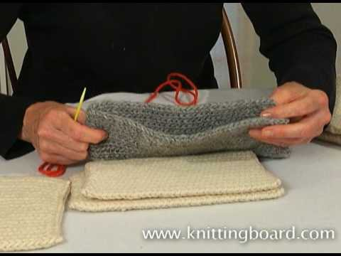 Sewing knit pieces together
