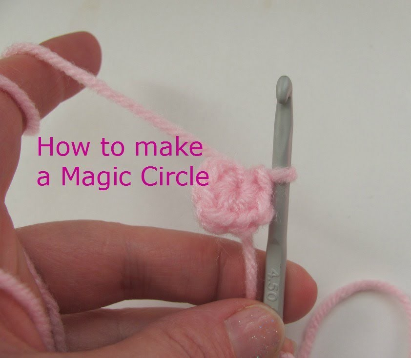 The easy way to crochet a magic circle
