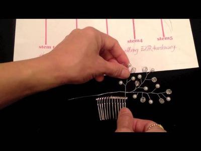 {THERESA} Beaded Floral Spray Part1of2: DIY Bridal Beaded Hair Comb