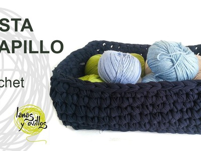 Tutorial Cesta Trapillo Crochet o Ganchillo XXL
