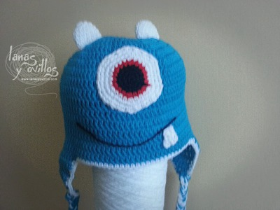 Tutorial Gorro Crochet o Ganchillo Monstruo Paso a Paso
