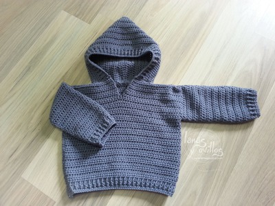 Tutorial Jersey Fácil Crochet o Ganchillo Bebé Sweater Baby