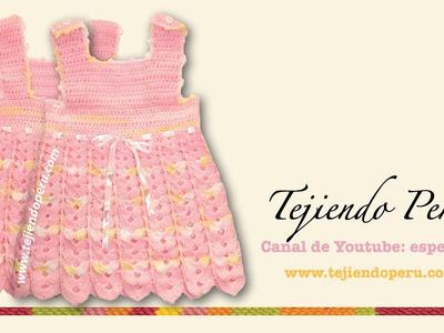 Vestido para bebita de 0 a 3 meses tejido en crochet (Parte 1: pechera)