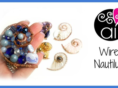 Wire Nautilus | DIY Tutorial Wire Wrapping Pendant | Chiocciola