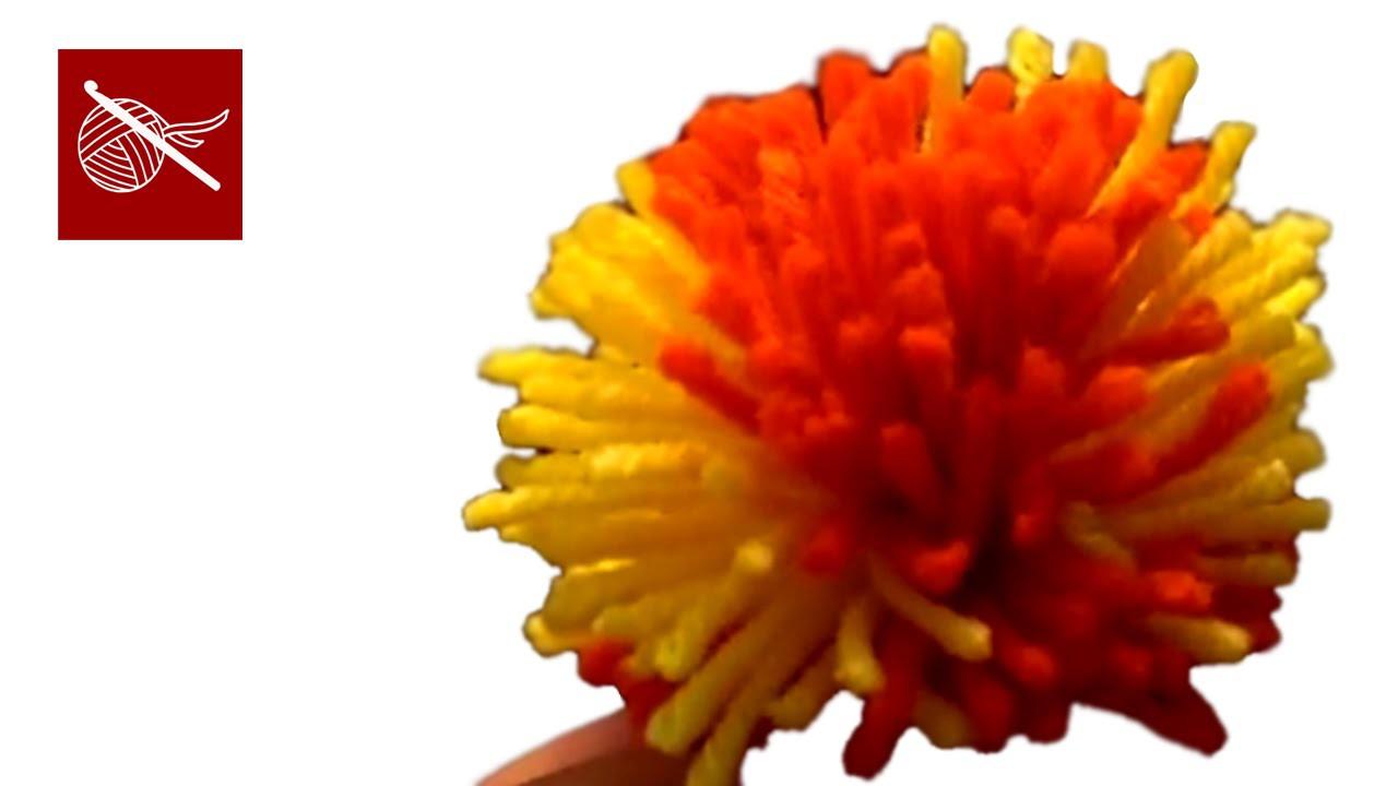 Yarn Pom Pom - Cardboard Circle Technique - Crochet Geek