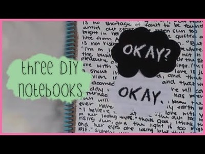 3 DIY Notebook Covers - TFIOS, Chalkboard, & Studded!