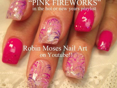 4 Nail Art Tutorials for Beginners | DIY Easy Pink Fireworks Nails